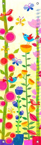Oopsy Daisy Spring Jazz Growth Chart by Gale Kaseguma, 12 by 42-Inch