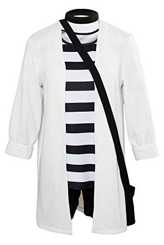 Obtai Halloween Ray Rachel Gardner Cosplay Costume Coat Shorts Full Set Suit (XXX-Large) -
