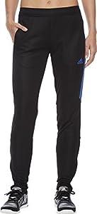 adidas Womens Tiro17 TRG Pant, Black/Blue, X-Small