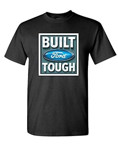 Built Ford Tough Truck (BUILT FORD TOUGH licensed official trucks - Mens Cotton T-Shirt, XL, Black)