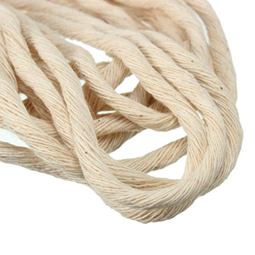 Candle 10 Meters Dia.2-3mm Braided Cotton Core Making Wick for Kerosene Burner Stove Oil Lamp DIY ()