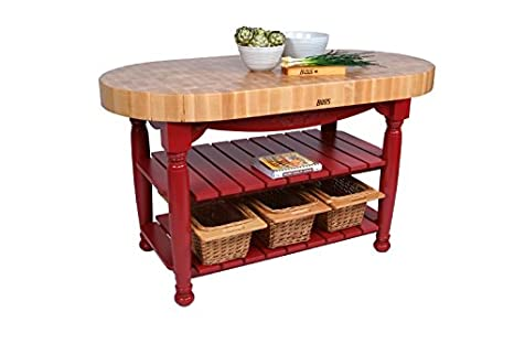 Amazon american heritage harvest kitchen island with butcher american heritage harvest kitchen island with butcher block top base finish barn red workwithnaturefo