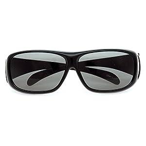 Coleman(コールマン) メガネの上から掛けられるオーバーサングラス 偏光レンズ ブラック CO3012-1