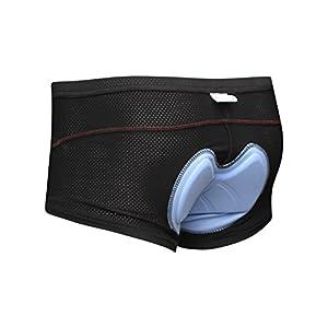 Koson-Man Men's 3D Padded Bicycle Cycling Underwear Shorts (LightBlue, M)