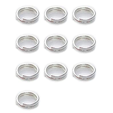 25x STERLING SILVER 8mm Split Ring Charm Links keyring easy attach your charms