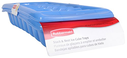 (Rubbermaid Ice Cube Tray Set, Blue, Pack of 2 MFG2879RDPERI)