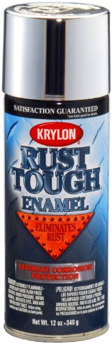 Krylon K09232007 'Rust Tough' Silver Metallic Rust Preventive Enamel - 12 oz. Aerosol