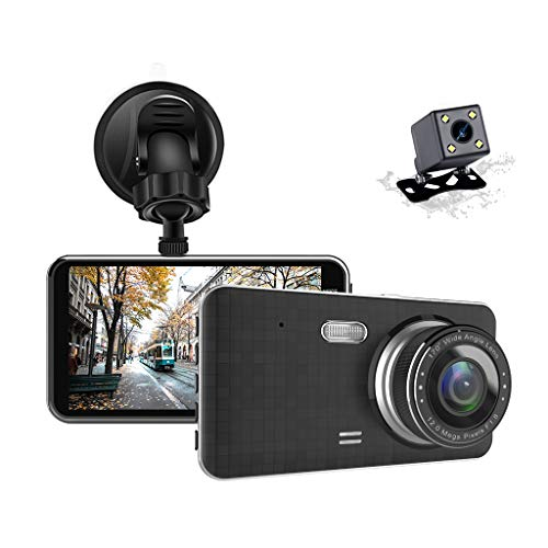 """[2019 New Version] Apexcam Dash Cam 4"""" IPS 1080P FHD Driving Recorder Front and Rear Lens 170°Wide-Angle Cars Dashboard Waterproof Backup Camera With G-Sensor WDR Loop Recording DVR Parking Monitor Motion Detection Night Vision"""