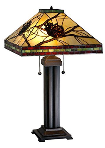 Meyda Tiffany 67852 Pinecone Mission Table Lamp, 24