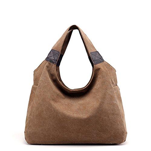 Womens borse,singola spalla /borsa di tela,borsa tempo libero-marrone