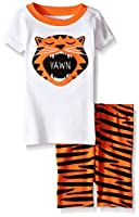 Gymboree Boys' Orange Tiger Short-Bottom Sleep Set