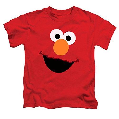 Juvenile Sesame Street Elmo Face T Shirt, Size 5/6 Red