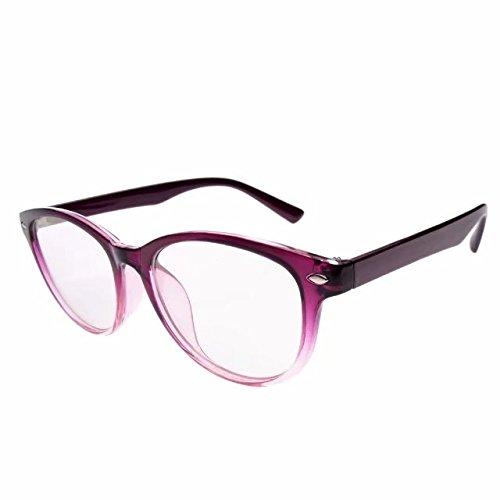 JCERKI Purple Lightweight Frame Bi-focals lens Reading Glasses 1.50 Men Women Fashion Light Bi-focals lens Readers - Cheapest Lenses Glasses