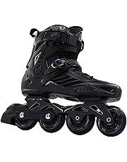 حذاء التزلج الاحترافي بصف واحد من العجلات للجنسين من ليكو باللون الاسود