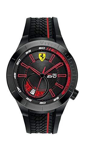 Scuderia Ferrari Red REV Evo Analog Black Dial Men #39;s Watch   0830339