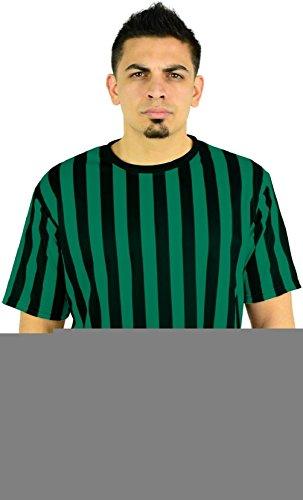 [12 pack Mens Crew Neck Referee Shirt - Bartenders Waiters Ref Top] (Arab Money Costume)