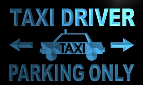 ADVPRO Cartel Luminoso m423-b Taxi Driver Parking Only Neon ...