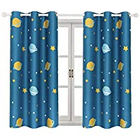 Room Darkening Kids Curtains for Bedroom –Cute Planet...