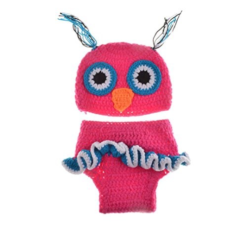 Voberry® Newborn Baby Owl Set Knit Hat Costume Photography Prop (Best Baby Girl Halloween Costumes)