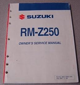 Rm 250 2008 manual ebook array suzuki rm z250 owner u0027s service manual suzuki motor corp amazon rh fandeluxe Image collections
