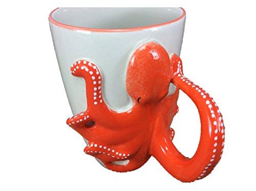 Squid Octopus Mug Enamel Sharks Cartoon Painted Milk Glass Coffee cup Cute Mug Pottery Mugs Anime Tea Cup Giant Mug Spirit Animal for Kid