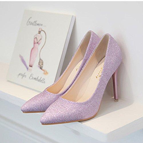 Wild punta mujer centímetros Oro wedding tacones zapatos fina 7 36 plata boda de con y shoes rSr1HEn