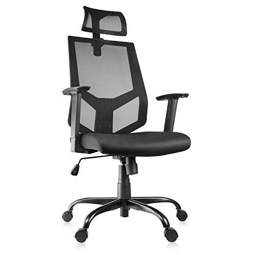 Ergonomic Office Chair Adjustable Headrest Mesh Office Chair Office Desk Chair Computer Task Chair
