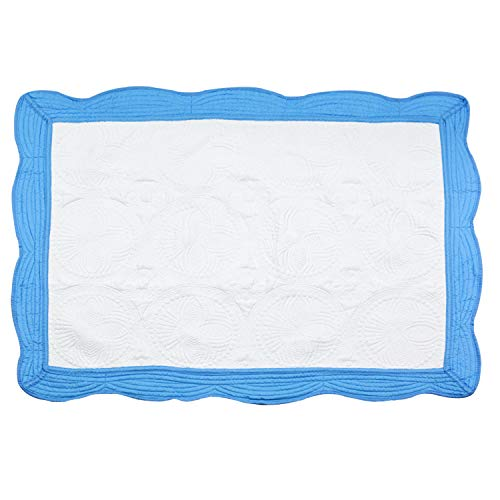 (USTIDE Free Quilted Thermal Baby Blanket Lightweight Toddler Blanket,100% Breathable Cotton, Super Soft and Warm Crib Blanket for All Seasons 35.8