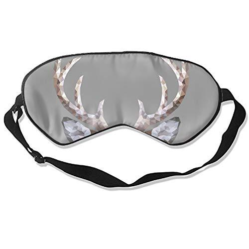 Sleep mask &Super Soft Silk Eye Mask for Sleeping, Blindfold for Women and Kids (Deer Low Poly Portrait)]()