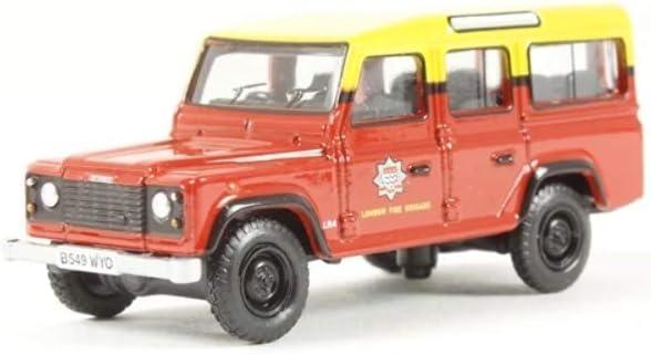 Oxford Diecast 76DEF011 Land Rover Defender Kombi London Feuerwehr