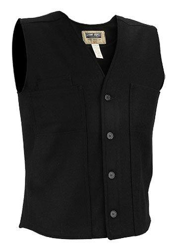 Stormy Kromer Wool Button Vest, Black, - Store Ottawa Hat