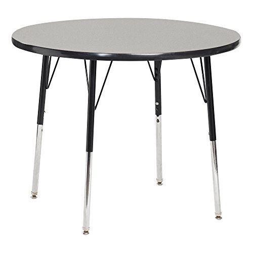 Norwood Commercial Furniture Adjustable-Height Round Activity Table, 30