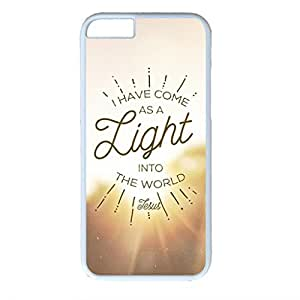 iCustomonline As a Light Unique PC White Hard Back Case Cover for iPhone 6 (4.7 inch)
