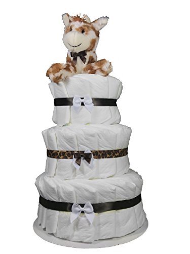 Diaper Cakes for a Boy Baby Shower - Giraffe Centerpiece by Sunshine Gift (Baby Boy Diaper Cakes)