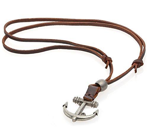 Pendant Vintage Adjustable Leather Necklace