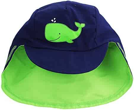 80fe8523f3c Little Me Baby Boys Baseball Brim Covered Neck Flap Sun Protection Hat Navy  3-9M