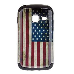 The Old Glory Pattern Detachable TPU and Plastic Back Cover Case for Samsung S6102