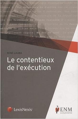 Livre Le contentieux de l'exécution pdf ebook