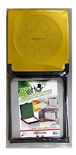 Mongardi 7413C01 4 Otto carros de recolecci/ón diferenciada de residuos