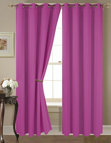 Empire Home Amber Solid Thermal Blackout Grommet Curtain Panel Extra Wide – Over 25 COLORS