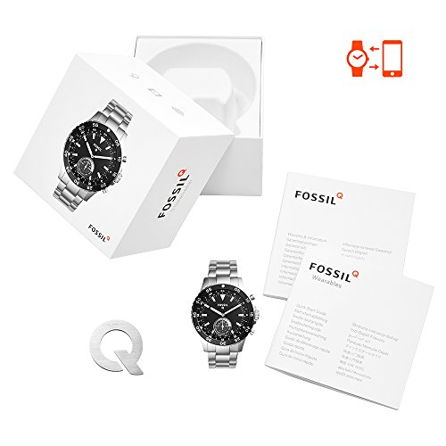 Fossil Q Crewmaster Gen 2 Hybrid Silver Stainless Steel Smartwatch