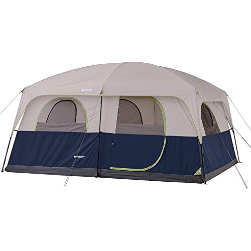 Ozark 10 person 2 room cabin tent waterproof rainfly for Small 2 room tent
