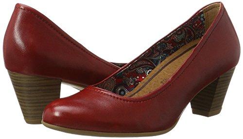 Pieds Couvert Avant Du Chaussures Femme 22408 533 Tamaris À Rouge Talons chili wqOHafxTY