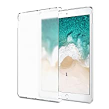 iPad Pro 10.5 Case - MoKo Translucent Slim Hard Plastic Bumper Protector / Back Cover for Apple iPad Pro 10.5 Inch 2017 Tablet, Clear (Compatible with iPad Pro Official Smart keyboard & Smart Cover)