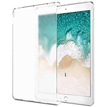 MoKo Case for iPad Pro 10.5 - Translucent Slim Hard Plastic Bumper Protector / Back Cover for Apple iPad Pro 10.5 Inch 2017 Tablet, Clear (Compatible with iPad Pro Official Smart keyboard&Smart Cover)