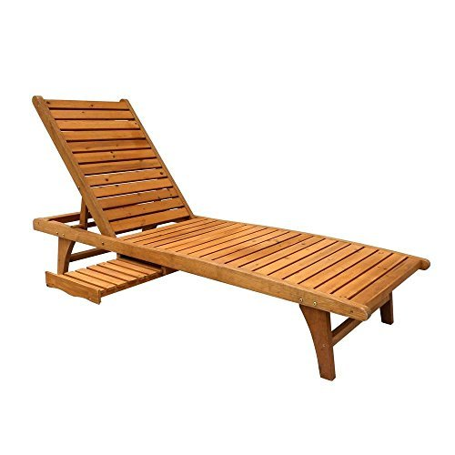 Patio Chaise Lounge with Pull-Out Tray (Tray Chaise Lounge)