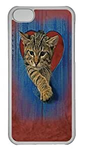 TYH - Heart Kitten Custom iPhone 4/4s Case Cover Polycarbonate Transparent ending phone case