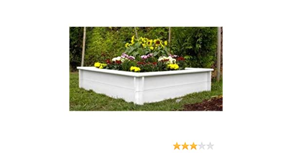 Amazon.com : Orcaboard 4X8 2-Rail White Color Raised Bed ... on trellis designs, raised beds for gardens, xeriscaping designs, raised bed shade gardens, shade garden designs, garden box designs, wheelchair garden bed designs, berry garden designs, garden enclosure designs, raised gardens for handicapped, rock garden designs, water garden designs, best small vegetable garden designs, raised planting beds, knot garden designs, small perennial garden designs, garden fence designs, small raised garden designs, green wall designs, simple landscape designs,