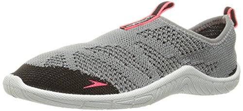 Speedo Women's Surf Knit Athletic Water Shoe, Grey/Neon Pink, 5 C/D US from Speedo
