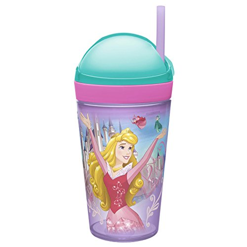 (Disney Princess zak 2 In 1 snak Snack And drink Cup - Ariel and Sleeping Beauty)